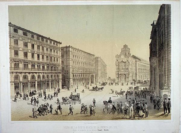 Proyecto de reforma de la Puerta del Sol. Vista de la nueva plaza de la Puerta del Sol