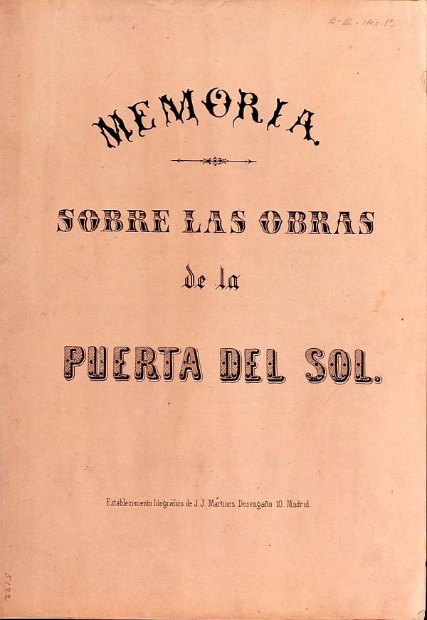 Memoria sobre las obras de la Puerta del Sol