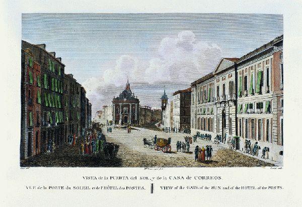Vista de la Puerta del Sol y de la Casa de Correos