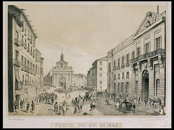 Puerta del Sol en 1842