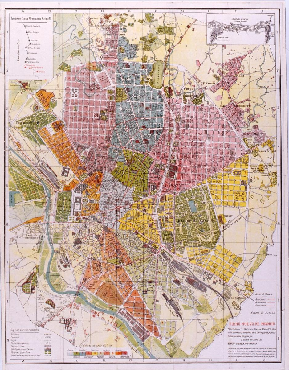 Ciudad Lineal Madrid Mapa.Memoria De Madrid