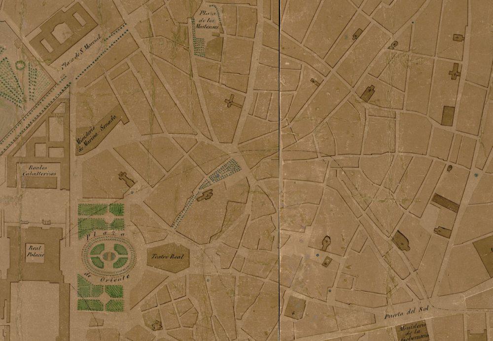 La Puerta del Sol y la plaza de San Marcial en 1859