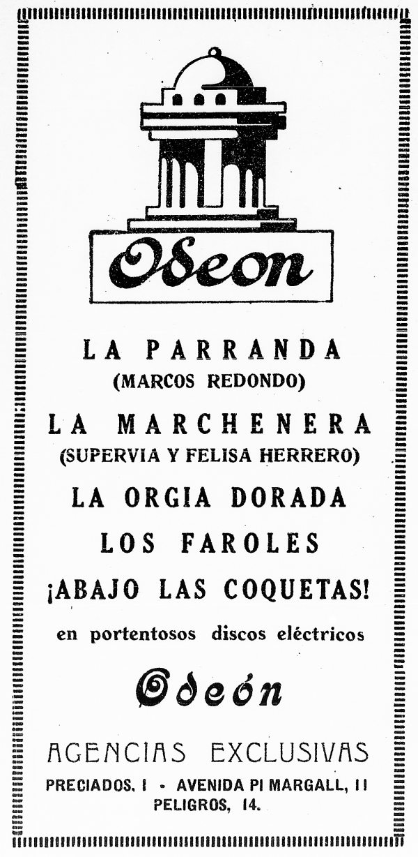 Odeón, agencias exclusivas