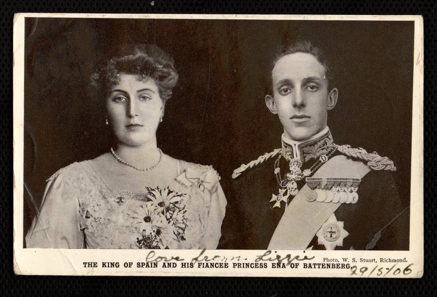 The King of Spain and his fiancee Princess Ena of Battenberg