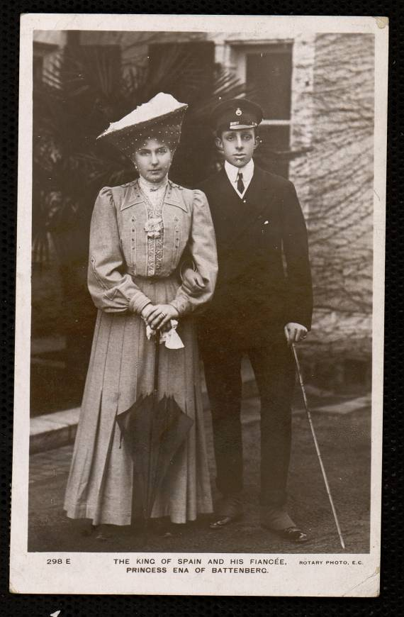 The King of Spain and his fiancée. Princess Ena of Battenberg