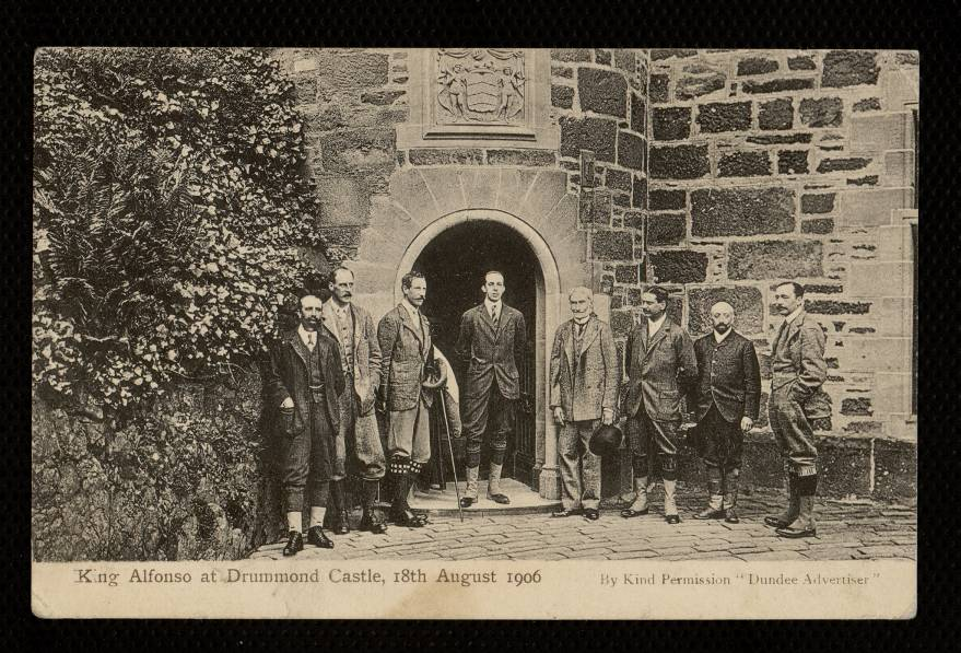King Alfonso at Drummond Castle, 18th august 1906