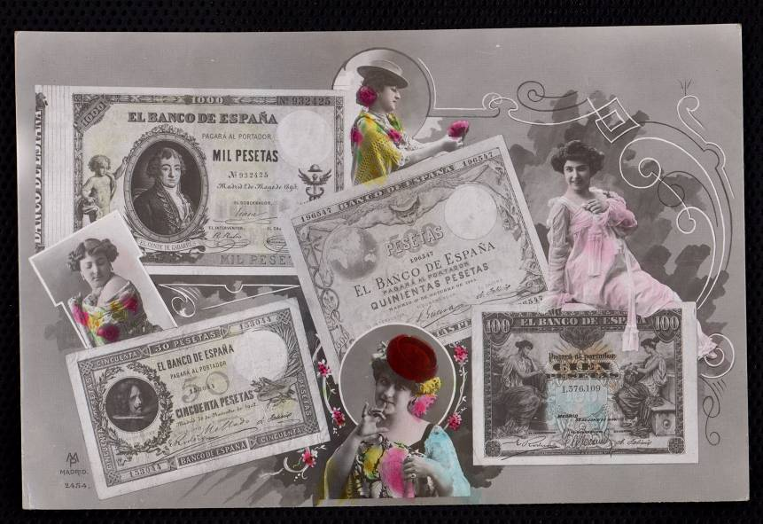 Actrices y billetes de banco
