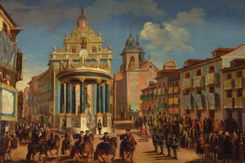 Ornato de la Puerta del Sol, con motivo de la entrada en Madrid de Carlos III