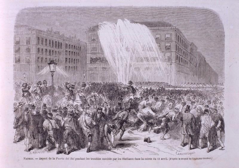 Disturbios estudiantiles en la Puerta del Sol en el Sexenio revolucionario (1868-1874)