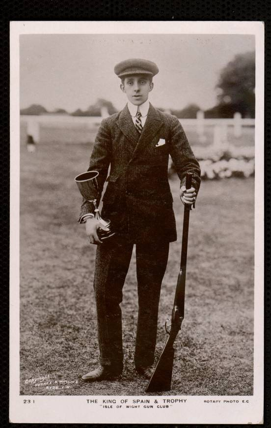 "The King of Spain & Trophy ""Isle of Wight Gun Club"""