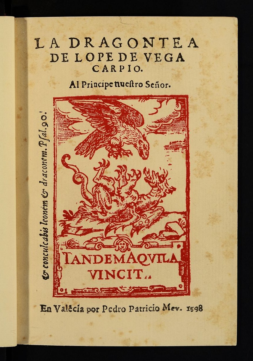Resultado de imagen de la dragontea lope de vega