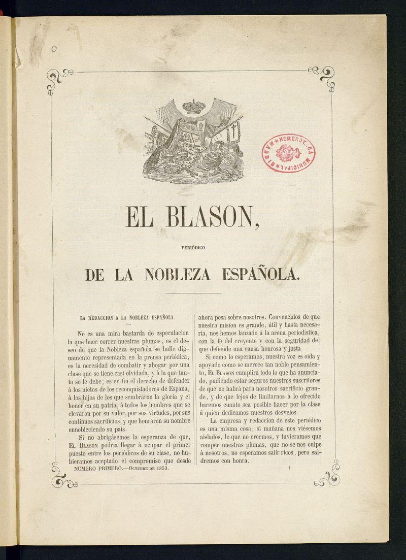 El Blasón: periódico de la nobleza española