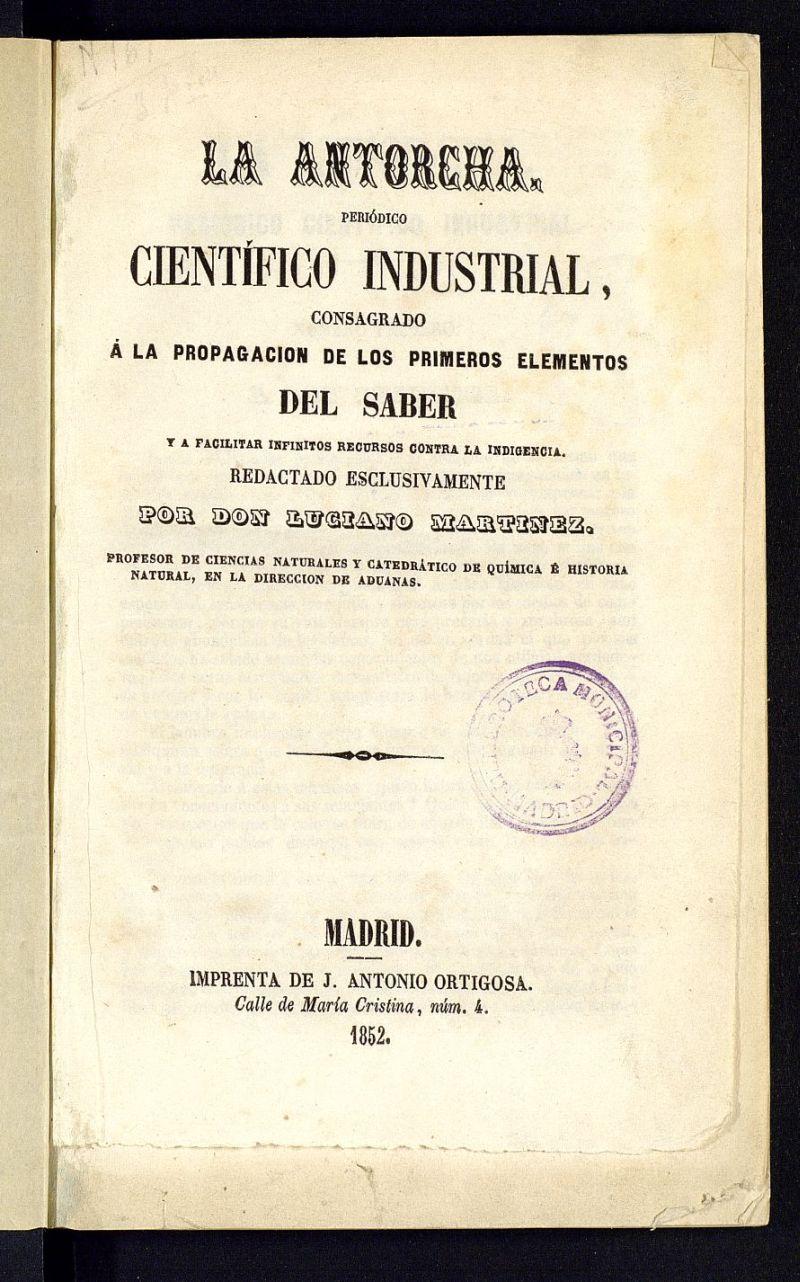 La Antorcha: periódico científico industrial...