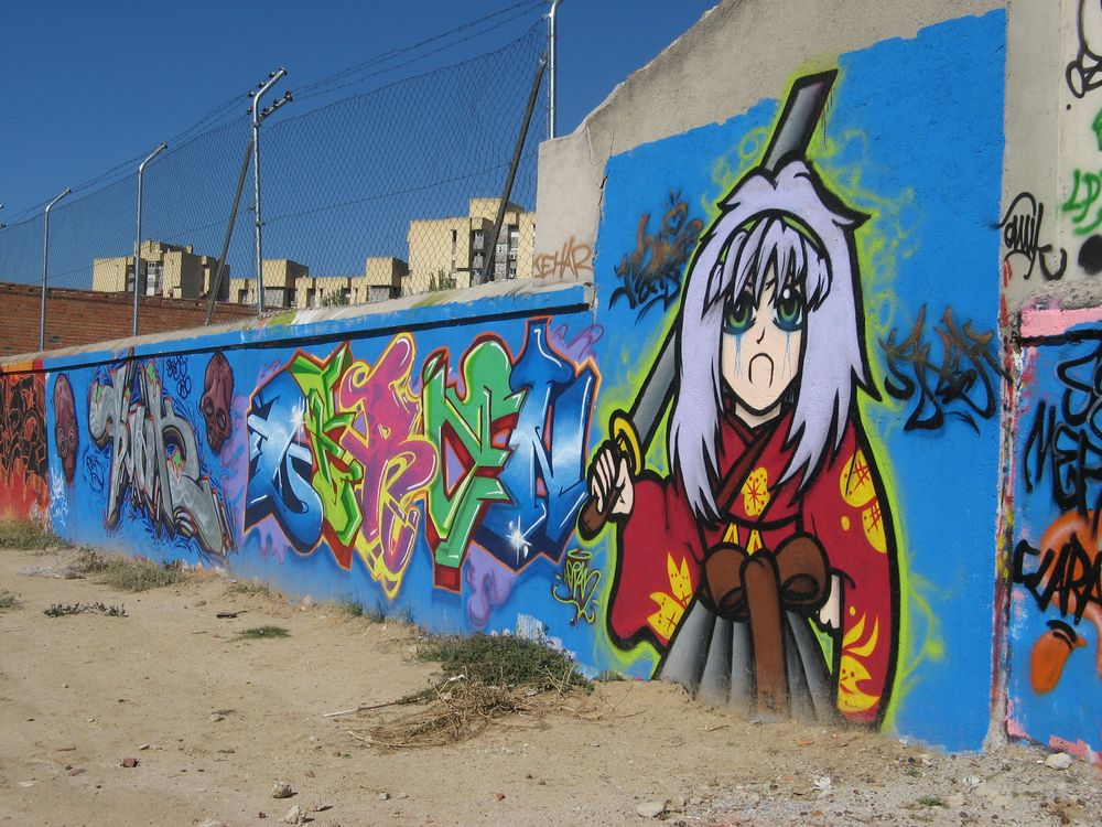 graffitis en la crcel de carabanchel