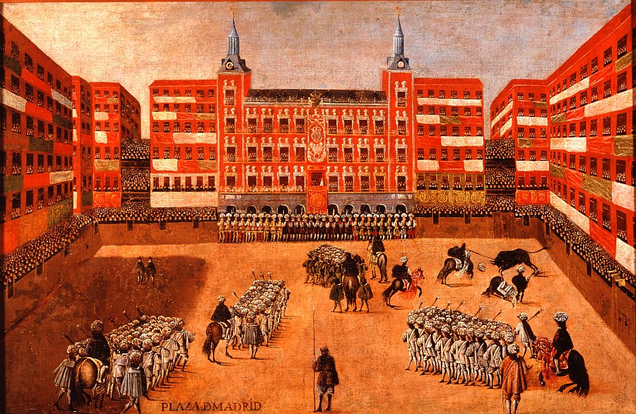 Vista de la plaza Mayor en fiesta de toros