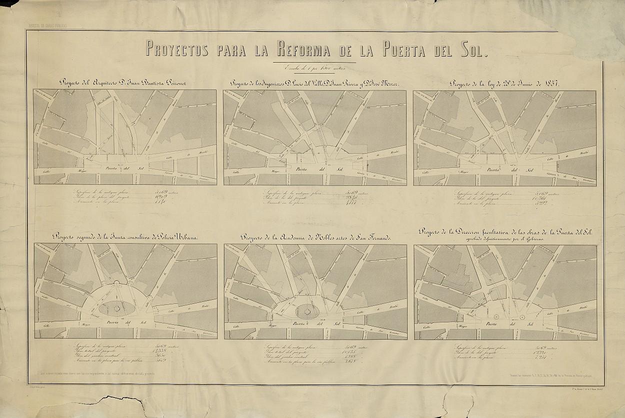 Proyectos para la reforma de la Puerta del Sol