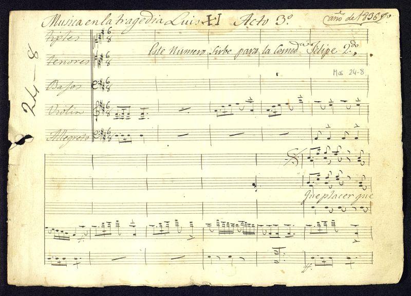 Musica en la tragedia Luis XI