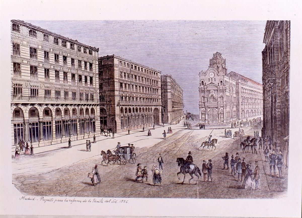 Proyecto de la reforma de la Puerta del Sol 1856 [sic]