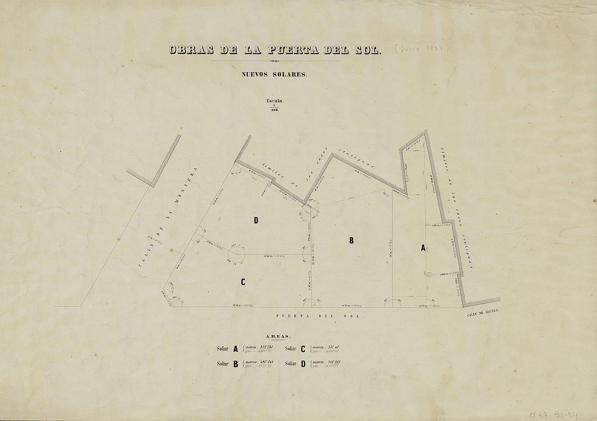 Obras de reforma de la Puerta del Sol: Nuevos solares