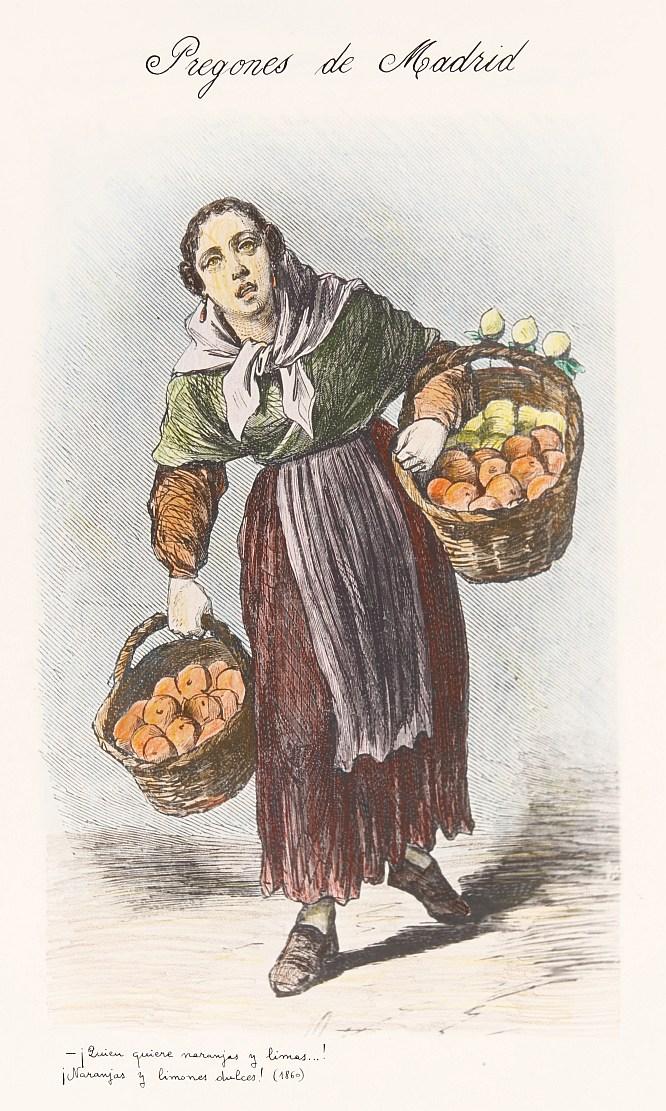 Vendedora de naranjas y limas