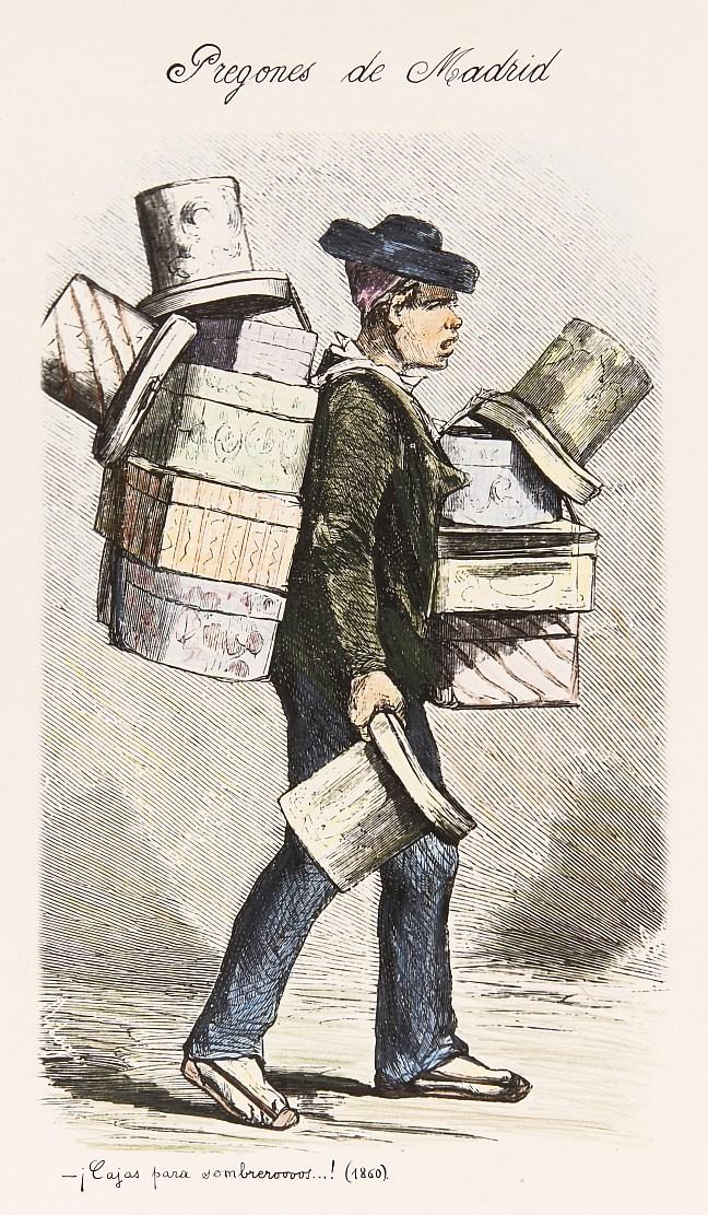 El vendedor de cajas para sombreros