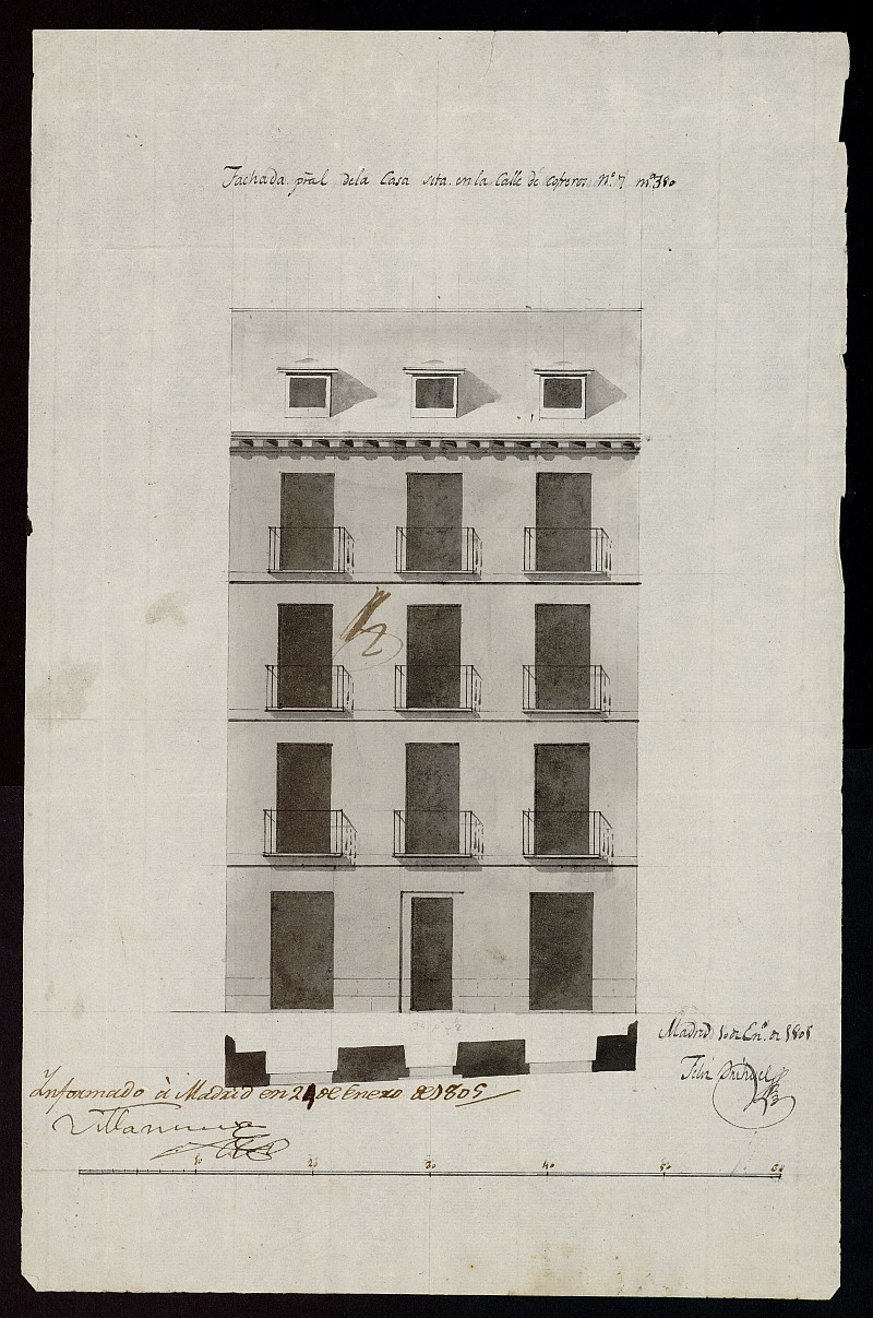 Licencia a Don Pablo Elias para construir una  casa en la calle de Cofreros nº 7 antiguo, manzana 380