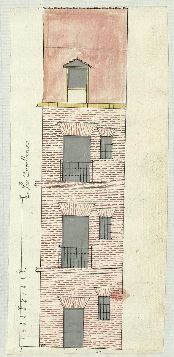 Licencia a Don José Enrique de Gúzman para reedificar una casa Calle de Peregrinos