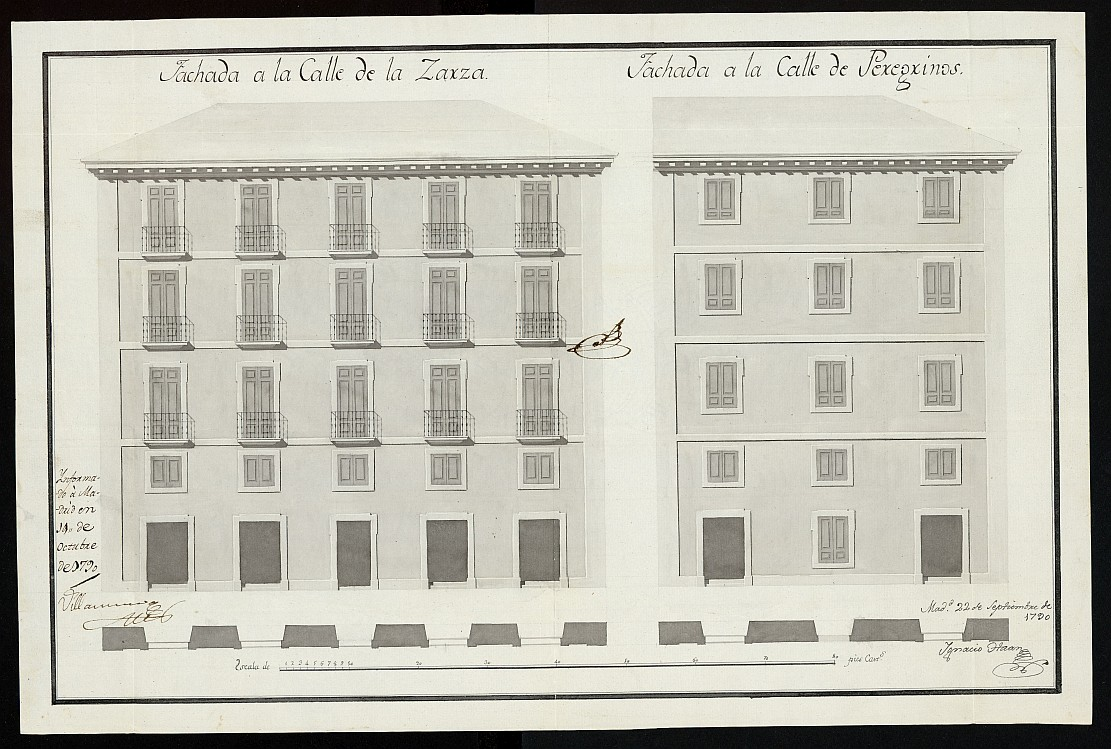 Licencia a Don Miguel López Jiménez para construir en la calle de la Zarza a la de Peregrinos nº 13 manzana 382