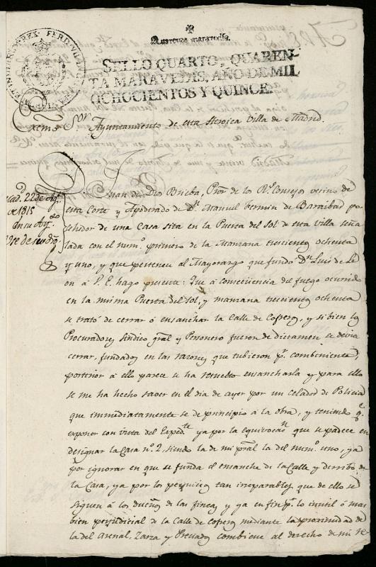 Licencia a Don Juan de Dios Briva apoderado de Don Manuel Fermín de Barayvar para reahabilitar la casa nº 1 antiguo, manzana 381