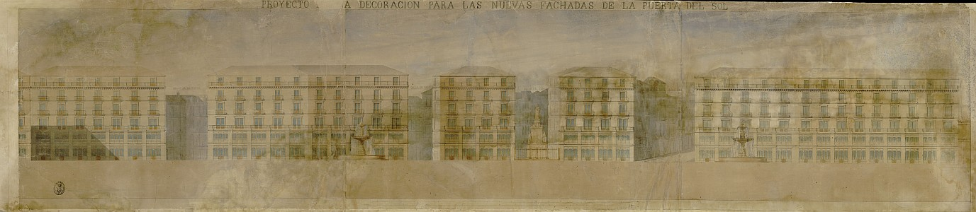 Proyecto para la decoración para las nuevas fachadas de la Puerta del Sol [Proyecto de reforma de la Junta Consultiva de 1853]
